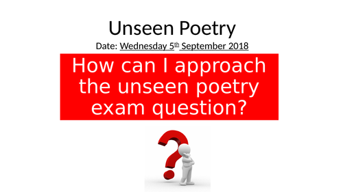 AQA Literature Unseen Poetry lesson - Slow Reader