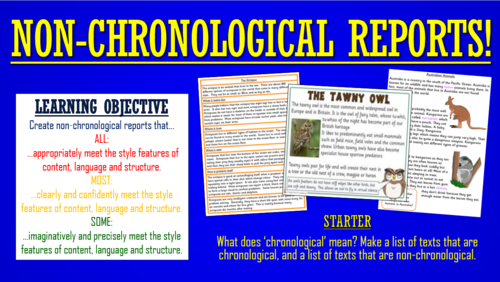 Non-Chronological Reports!