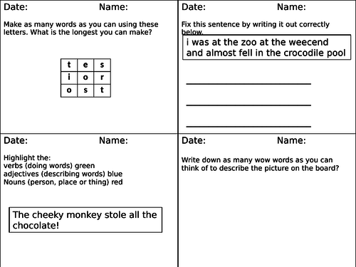 Handwriting Worksheets Middle School English Teaching Resources Tes