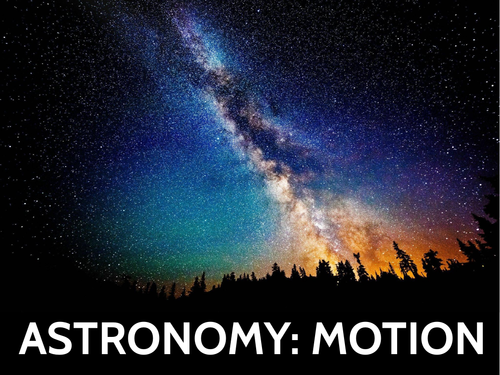 GCSE Astronomy (Motion in the Universe) PPT