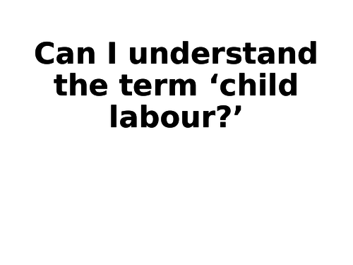 Child Labour - Intro to Iqbal