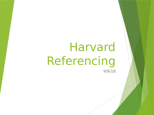 Harvard referencing guide for Btec students