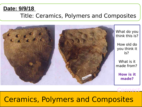 NEW AQA lesson-Ceramics, Polymers and Composites for Chemistry GCSE