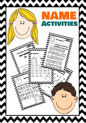 NAME ACTIVITIES For Kindergarten and Pre-K