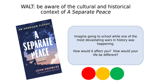 A Separate Peace - Context
