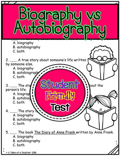 Biography vs Autobiography Test