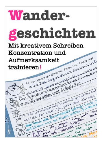 Wandergeschichten - Kreatives Schreiben Deutsch / DAF, German storytelling story