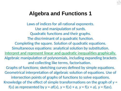 Pure Mathematics 1 (Algebra and Functions) PowerPoint