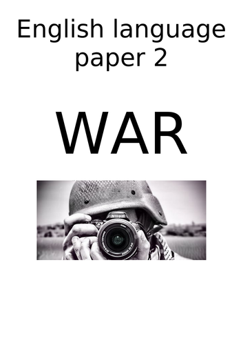 Non-fiction extracts- 'War'- comparing- AQA English Language paper 2