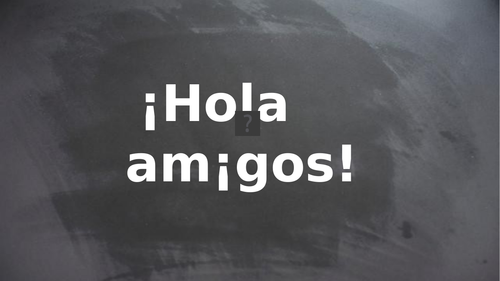 WHOLE UNIT KS2 Spanish: What's your name?