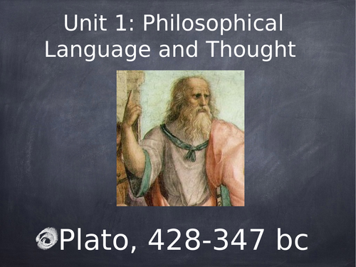 OCR Philosophy of Religion Unit 1: Philosophical language and Thought- Plato