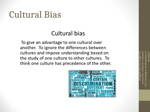AQA A Level Paper – Issues and Debates – Cultural Bias - Power Point