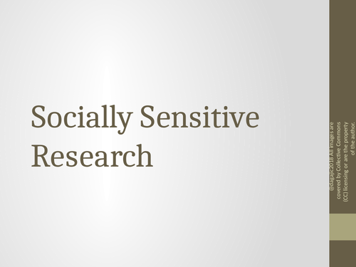 AQA A Level Paper – Issues and Debates – Socially Sensitive Research - Power Point