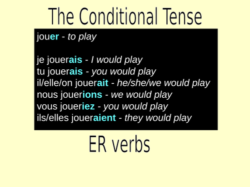 The Conditional Tense in French