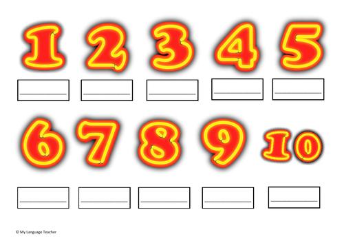WORKSHEET KS2 Spanish: Numbers. Los numeros.