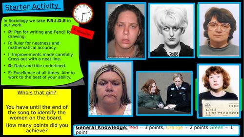 GCSE Crime & Deviance: Gender x 3 Lessons