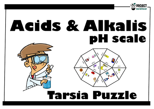 Acids and Alkalis: pH scale Tarsia Puzzle