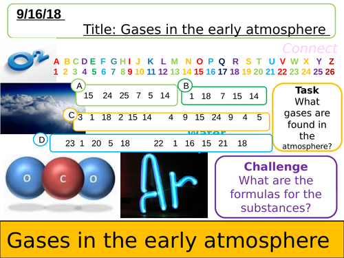 NEW AQA Gases in the early atmosphere