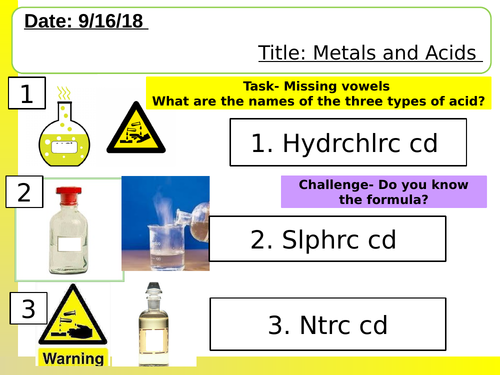 NEW AQA lesson on metals and acids.