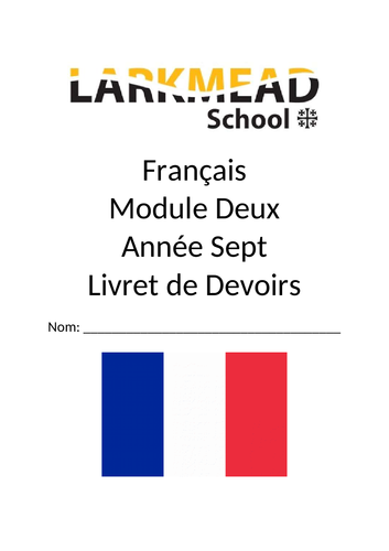 French - Family Topic Homework/Activity Booklet