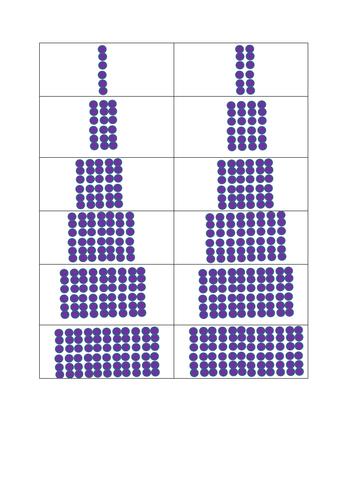 6 times tables arrays