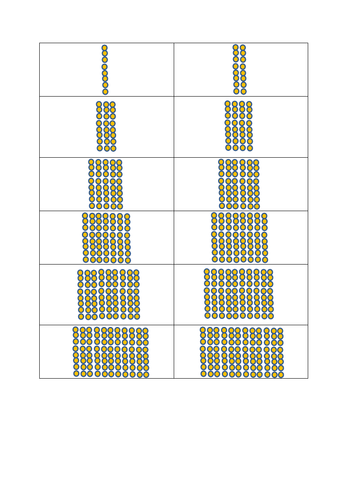 8 times tables arrays