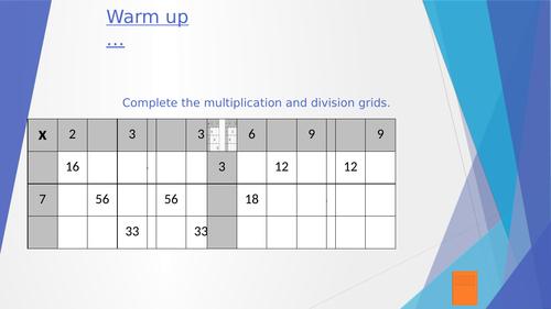KS3 Lesson Powerpoint - Fractions (Multiplying)