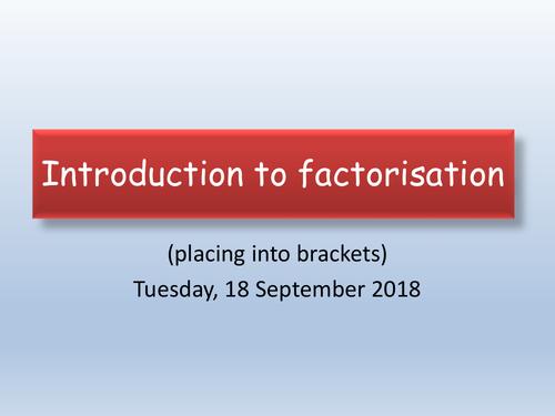 GCSE Maths : Factorising trinomials