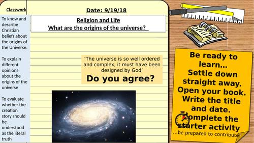 AQA 9-1 Religious Studies GCSE - Religion and Life: Origins of the Universe