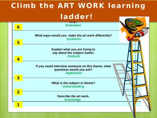 Art evaluation learning ladder - using Blooms Taxonomy
