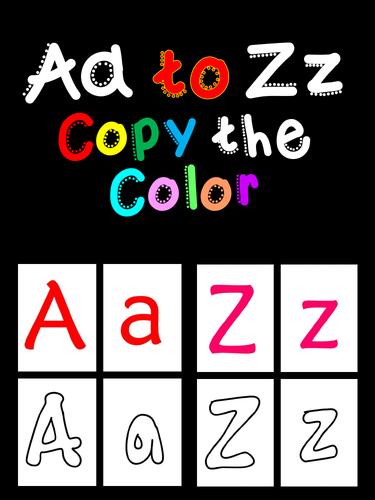 Aa to Zz Copy the Color - Alphabet