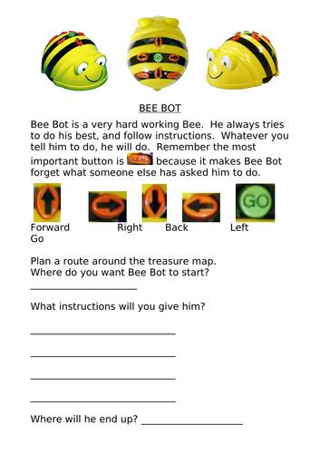 Bee Bot instruction sheet
