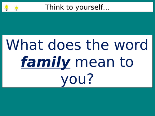 Nature and purpose of families AQA