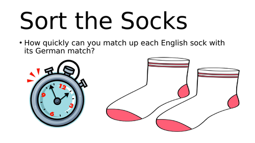 European Day of Languages / Open Evening Activity : Sort the Socks