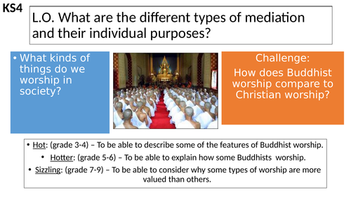 AQA Buddhism How Do Buddhist's Worship Buddhist Practices
