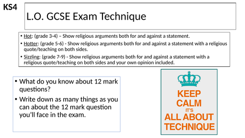 AQA GCSE Religious Education 12 Mark Question Lesson on Abortion