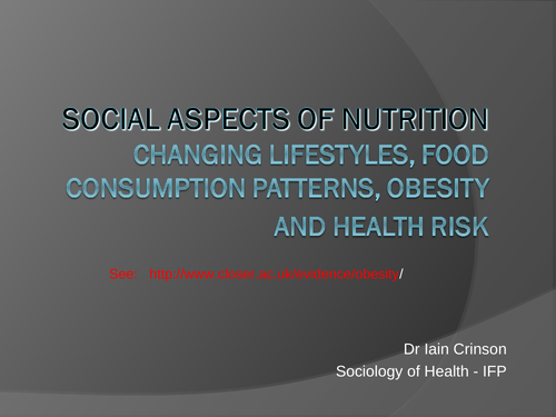 All about nutrition  (social aspects)