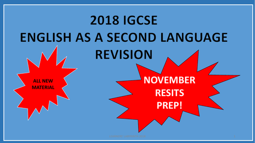 IGCSE English as a Second Language Prep