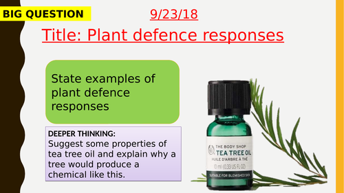 AQA new specification-Plant defence responses-B5.11
