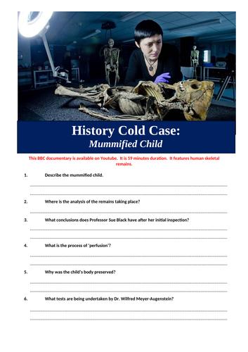 History Cold Case - Mummified Child