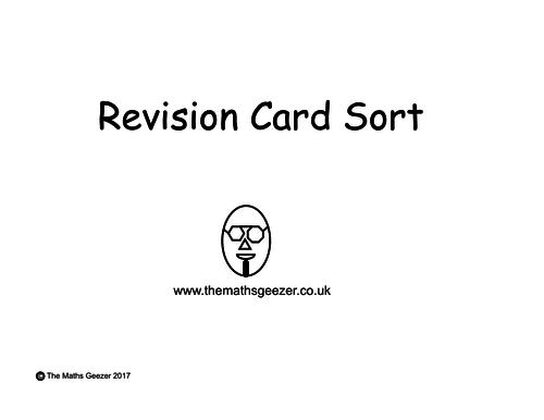 Revision Card Sort