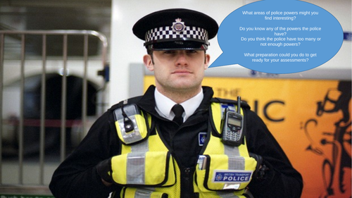Police Powers Level 3 (6 PowerPoint Lessons)