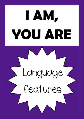 'I am, you are' language features game