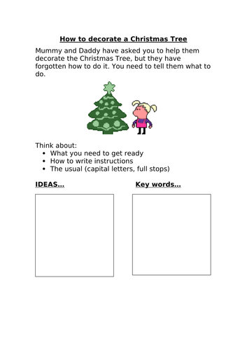 Instructions - How to decorate a Christmas Tree