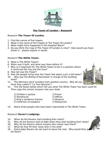 Research - The Tower of London