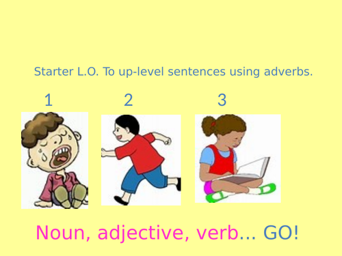 Improving sentences using adverbs