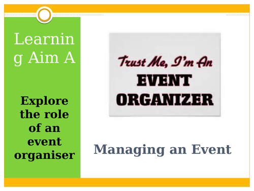 L3 BTEC Business (2016 Spec) - Unit 4 Managing an Event - P2 Skills Audit