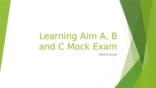 L3 BTEC Business (2016 spec) Unit 3 Finance Exam - Mock Walkthrough Activity