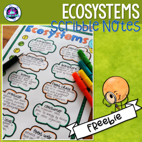 Ecosystems Scribble Notes Freebie