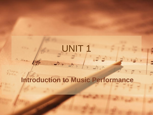 Unit 1 - Introduction to Performance (2)